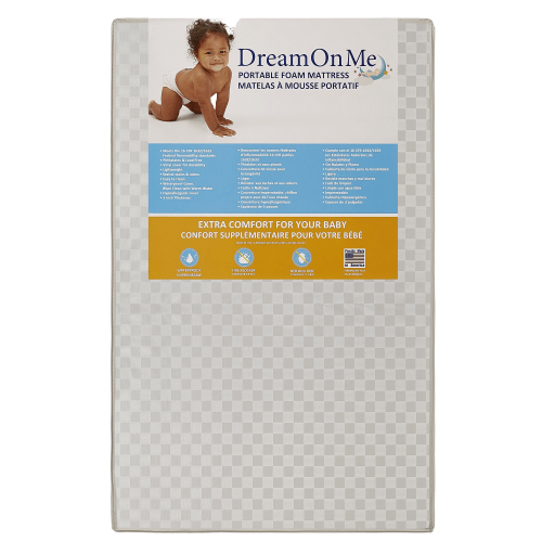 "FIzzy mattress 3/"" foam for mini and portable size cribs"