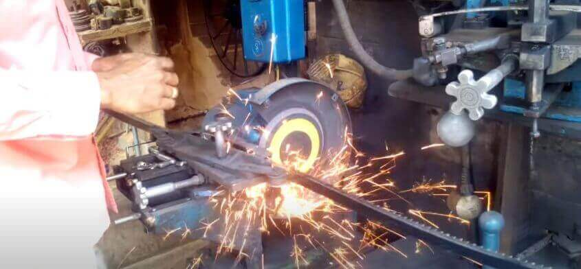 how to sharpen a bandsaw blade with a machine