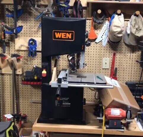 wen 3962 two-speed band saw with stand and worklight 10 review